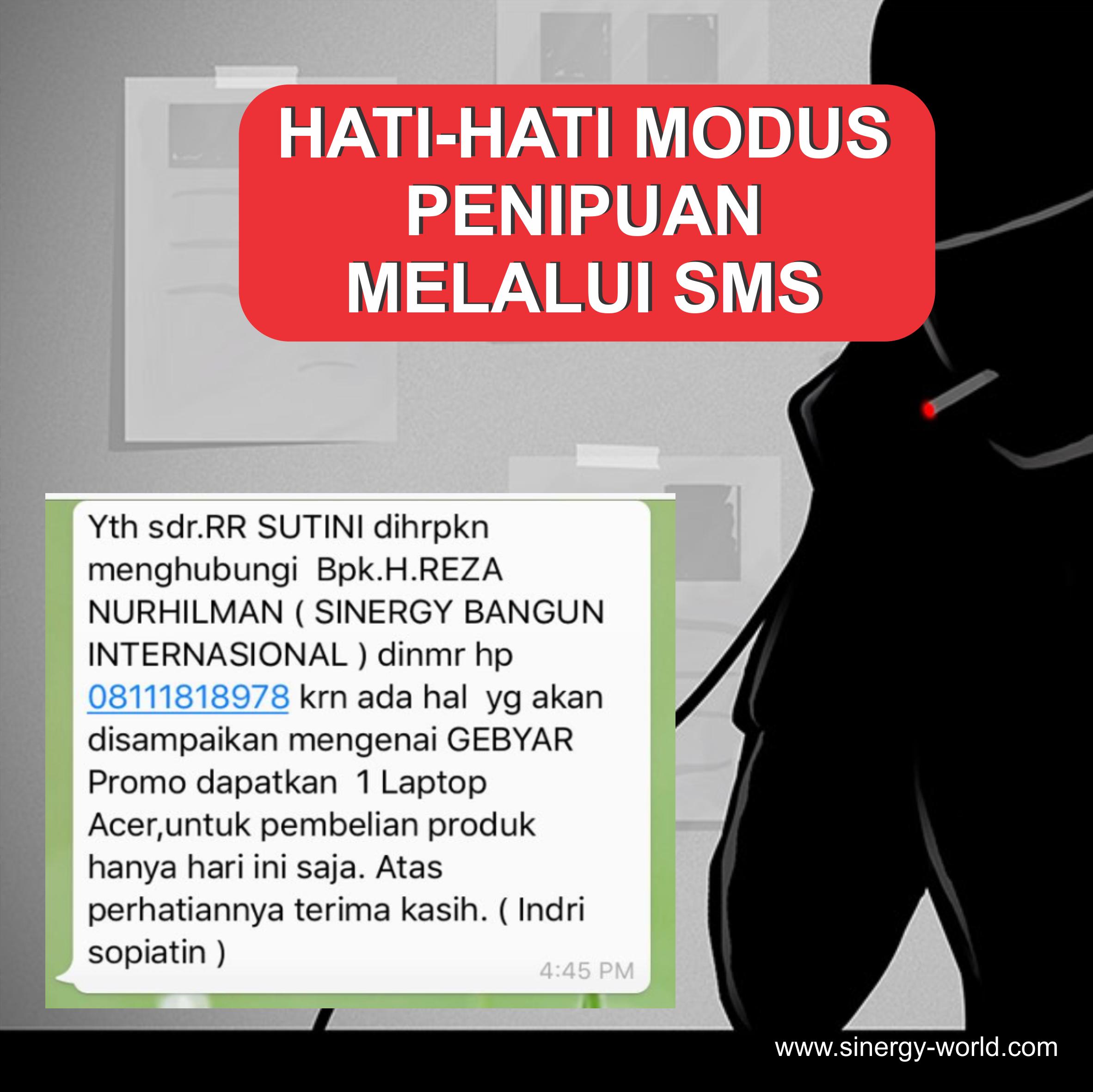 Hati-hati Modus Penipuan Melalui SMS